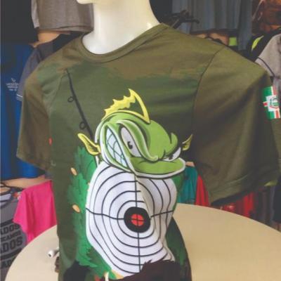 Camiseta sublimada feita para o CLUBE CAÇA E PESCA VERANÓPOLIS